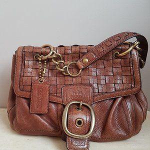 Coach Handbag C0873-12364 with heavy metal chain.